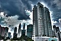Hotel in Kuala Lumpur with Petronas Twin Towers on the background (HDR) (10498477676).jpg