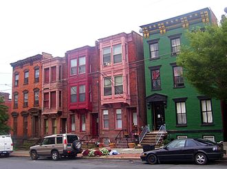 Clinton Avenue Historic District (Albany, New York) - North elevations, 52-60 Clinton Avenue, 2008