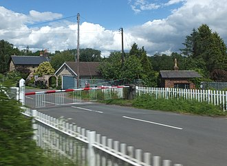 Barton Hill, North Yorkshire - At the level crossing of the East Coast Main Line