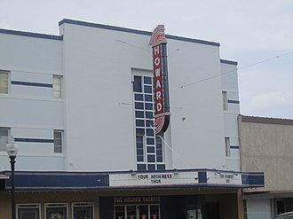 Taylor, Texas - Howard Theatre, owned by Georgetown attorney William Bryan Farney and his wife, Marsha Farney, the District 20 member of the Texas House of Representatives from Williamson County