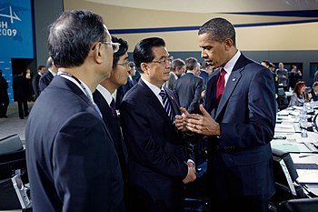 Hu Jintao and Barack Obama 2009