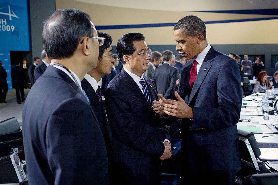 Hu Jintao and Barack Obama 2009