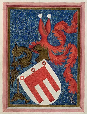 Hugo von Montfort - Montfort coat of arms, 1414 codex