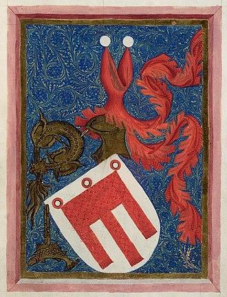 Hugo von Montfort - Montfort coat of arms, 1414 codex