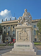 Statue of Alexander von Humboldt outside the Humboldt University.