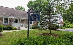 Hurley Bibliothek und Zeichen, Hurley, New York.jpg
