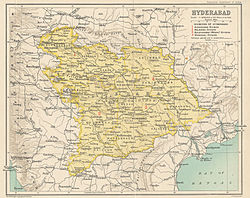 Map of the Hyderabad State, 1909