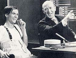 "Per Oscarsson og Lennart Hyland 2. juledag 1966, før Oscarssons ""tv-kup""."