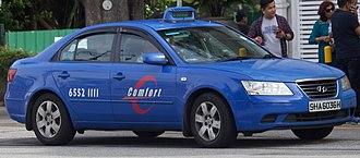 Taxicabs of Singapore - Image: Hyundai Sonata Comfort taxicab (Comfort Delgro)