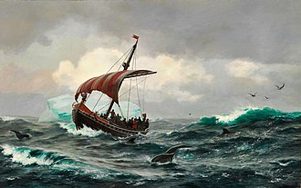 Erik the Red - Summer in the Greenland coast circa the year 1000  by Carl Rasmussen