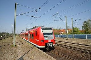 Hanover S-Bahn metro railway in Hanover, Germany