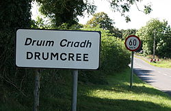 Entering Druim Criadh, facing west towards Granard