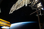 ISS-42 Picturesque view as the ISS passes over a darkening Earth below.jpg