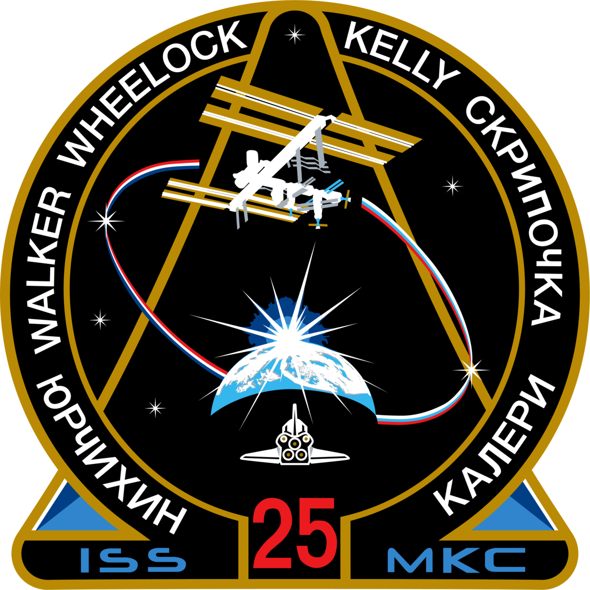 Mission Patches On Mission 4 To The International Space: Expedition 25
