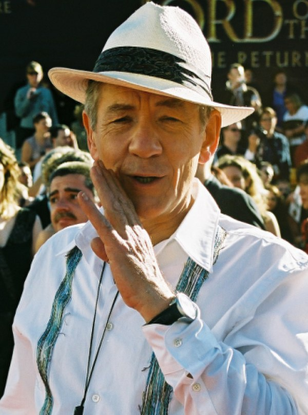 Photo Ian McKellen via Wikidata
