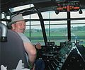 Ian Simmons at controls of the SpruceGoose.JPG