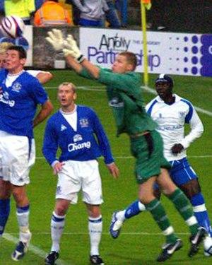Iain Turner - Turner playing for Everton