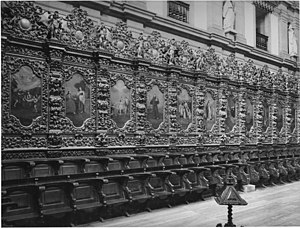 Monastery of Arouca - The ornate choir stalls within the choir ny António Gomes and Filipe da Silva