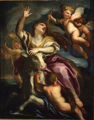Domenico Piola - The rape of Europe