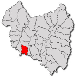 Location of Ilieni