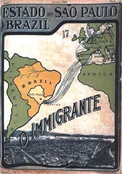 Immigration arabe ; carte couverture - 1908