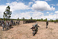 Indian Army soldiers move into position while demonstrating a platoon-level ambush to U.S. Army paratroopers at Fort Bragg.jpg