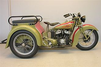 Indian Motocycle Manufacturing Company - 1939 Indian Dispatch Tow, 3-wheeler