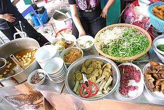 Bún riêu - Ingredients of bún riêu cua
