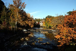 Wappinger Creek - View of the creek from the Best Western Inn and Suites at the Falls