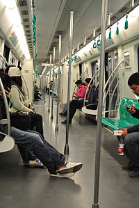 Inside the train of BJS Line 8, 2012.jpg