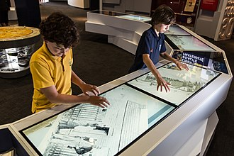 Museum of Australian Democracy at Eureka - The Museum used digital technology and touch screens to tell the stories of the Eureka Stockade.