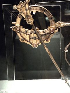 elaborate Celtic brooch of about 700 AD