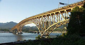 Ironworkers Memorial Second Narrows Crossing - Image: Ironworkers Memorial Bridge Vancouver BC