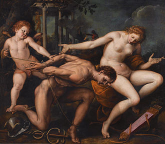 Isidoro Bianchi - Allegory of Love and Wisdom, oil on canvas painting by Isidoro Bianchi di Campione