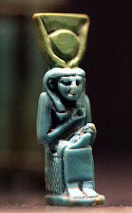 Statuette représentant Isis allaitant Horus