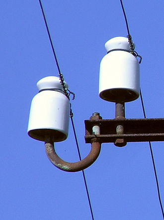 Pin insulator - Insulator of a telephone transmission line