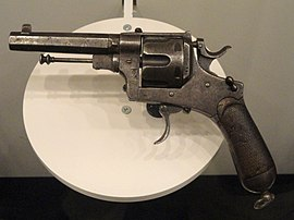 Italy revolver, Modello 1889, Pistola a Rotazione, System Bodeo, Caliber 10.35 mm, made in 1918 - National World War I Museum - Kansas City, MO - DSC07468.JPG