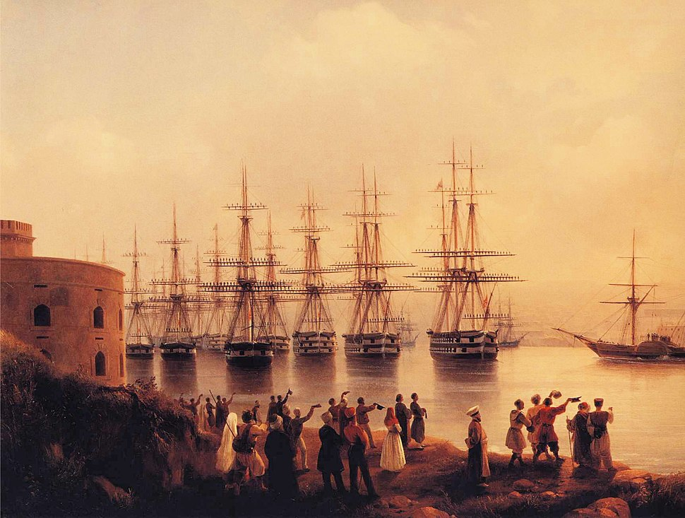 Ivan Constantinovich Aivazovsky - The Russian Squadron on the Sebastopol Roads (detail)