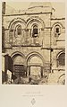 Jérusalem. Entrée de l'Église du St. Sépulcre MET DP345526.jpg