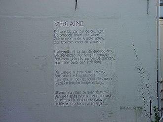 J. C. Bloem - J.C. Bloem - Verlaine, a wall poem in Leiden