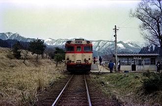 San'in Main Line - Yamamori Station circa 1981