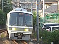 JRWest221-NC602 at Kiryudani rxr 1.jpg