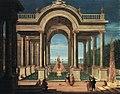 Jacob Ferdinand Saey - Elegant figures strolling in a palace garden.jpg