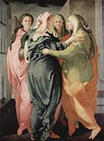 Visitation, 1528-29; Oil on wood; 202 x 156 cm; San Michele, Carmignano (Florence)