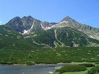 Fatra-Tatra Area - Kolový štít and Jahňací štít over Veľké Biele Pleso