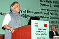Jairam Ramesh addressing at the inauguration of Indo - China Joint Workshop on National Actions Plans on Climate Change, in New Delhi on October 21, 2009.jpg