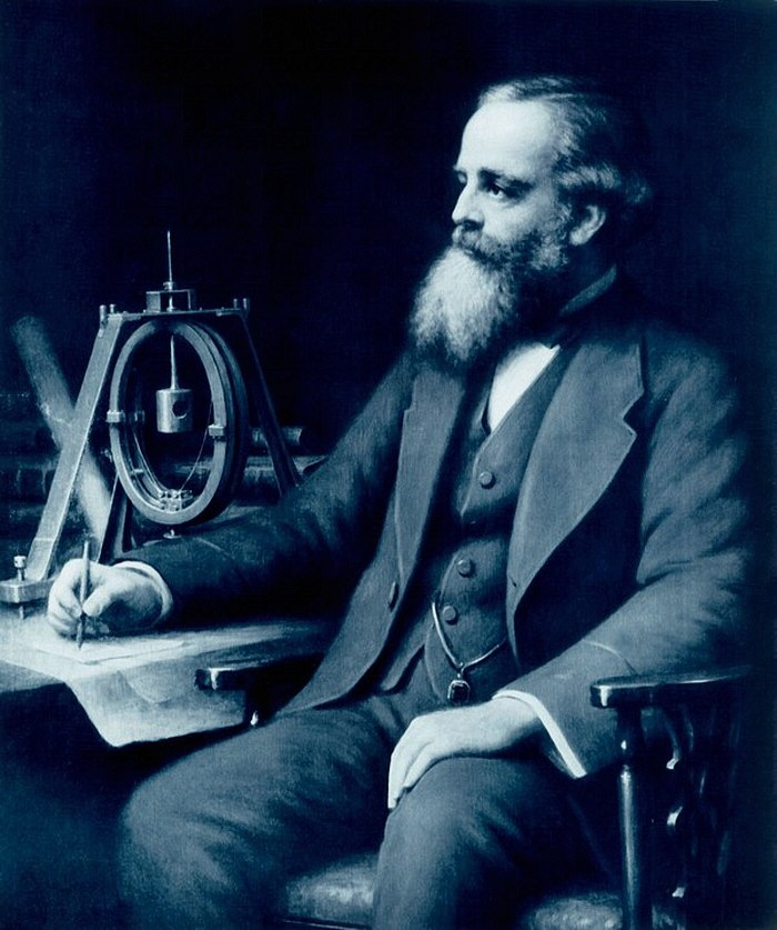 James Clerk Maxwell sitting