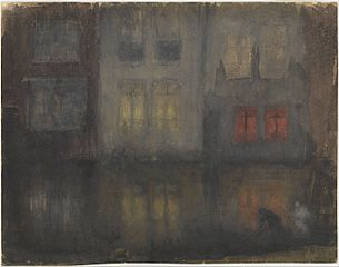 Nocturne- Black and Red—Back Canal, Holland