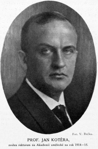 Jan Kotěra - 1923 portrait by Vladimír Jindřich Bufka