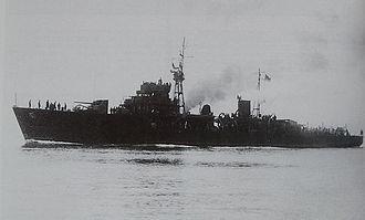 Hiburi-class escort ship - Image: Japanese escort ship Habuto 1945